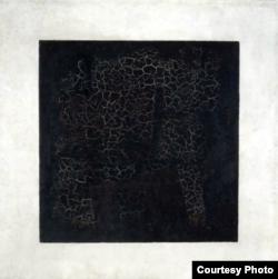 """Kazemir Malevichin çəkdiyi məşhur """"Qara kvadrat"""" rəsm əsəri."""