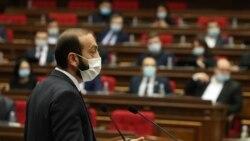ԱԺ նախագահը դիմակ չկրելու համար նախազգուշացրեց Գևորգ Պետրոսյանին, խոստացավ չկրողներին հեռացնել դահլիճից