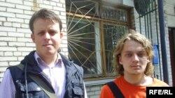 Аляксей Пілевіч і Кастусь Іваноў (справа)