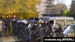 Гродно, милиция в ожидании демонстрантов. 25 октября 2020 года