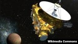 Anija New Horizons duke udhëtuar për në planetin Pluton