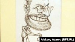 Шарж на председателя Нацбанка Григория Марченко. Работа Еркина Нуразхана. Алматы, 9 января 2013 года.