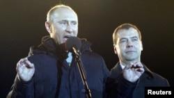 Путін привітав своїх прихильників на Манежній площі в Москві, 4 березня 2012 року