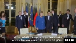 د روسیې ولسمشر او د جرمني وزیر اعظمه په مسکو کې