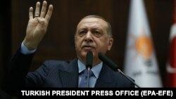 Режеп Тайып Ердоған, Түркия президенті.