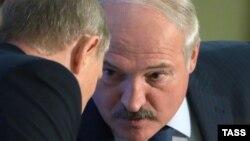 Уладзімер Пуцін і Аляксандар Лукашэнка, архіўнае фота