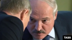Уладзімер Пуцін і Аляксандар Лукашэнка. Сочы, 18 верасьня