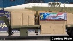Pamje e raketës balistike iraniane Khorramshahr