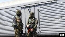 Ուկրաինա - Ռուսամետ զինյալները պահպանում են վագոն-սառնարանները, որոնցում ավիաաղետի զոհերի դիերն են, 20-ը հուլիսի, 2014թ․