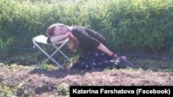 Катя в деревне в Башкортостане