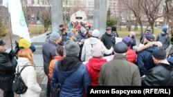 Митинг в Новосибирске против установки памятника Сталину, архивное фото