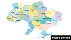 Украина картасы. (Көрнекі сурет)