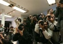 Journalists covering an event in Tehran (Fars file photo)