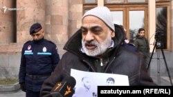 Гражданский активист Вардгес Гаспари, Ереван, 24 января 2019 г.