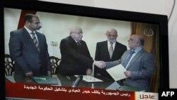 لقطات من تكليف العبادي بتشكيل حكومة جديدة كما بثها التلفزيون الرسمي - 11 آب 2014