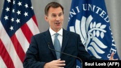 """The GRU's actions are reckless and indiscriminate: they try to undermine and interfere in elections,"" British Foreign Secretary Jeremy Hunt said. (file photo)"