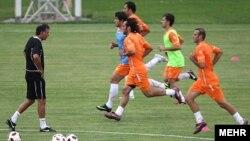 تمرین تیم ملی فوتبال با حضور کیروش