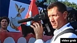Венециядә узган протест чарасында Русия телевидениесе операторы