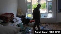وارد شدن تلفات و خسارات ناشی از یک حمله موتربمت در بغلان
