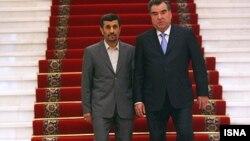 محمود احمدی نژاد و امامعلی رحمان در دوشنبه
