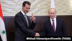 Башар Асад і Ўладзімір Пуцін, архіўнае фота