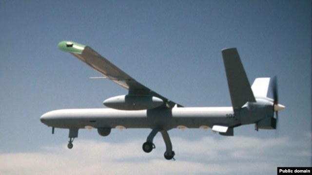 An Israeli Hermes 450 drone (file photo)