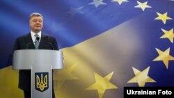 Президент України Петро Порошенко під час прес-конференції 14 травня 2017 року