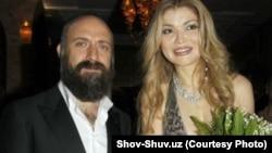 Гүлнара Каримова түрік актері Халит Ергенчпен бірге. Ташкент, 8 қазан 2012 жыл