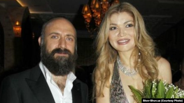 Gulnara Karimova (right) with Halit Ergenc, star of the Turkish soap opera