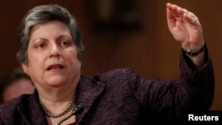 Outgoing Homeland Security Secretary Janet Napolitano