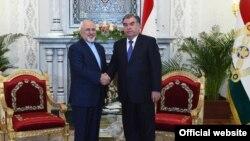 Эмомали Рахмон и Мохаммад Джавад Зариф, Душанбе, 16 апреля 2018 года. Фото с сайта президента Таджикистана