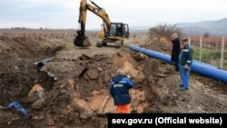 Авария на газопроводе в Балаклаве