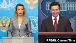 Мария Захарова и Джош Эрнст