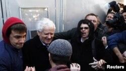 Doček Fikreta Abdića u Puli po izlasku iz zatvora, mart 2012.