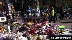 Одна из улиц Бостона после взрывов 15 апреля