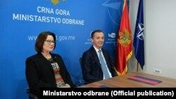 Ministar odbranePredrag Boškovići ambasadorka Sjedinjenih Američkih Država(SAD) Džudi Rajzing Rajnke