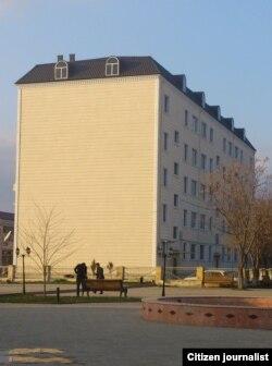 Binanın təmir edilən hissəsi