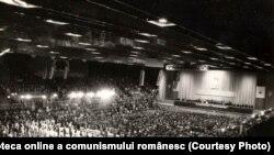Aspect de la Marea Adunare populară consacrată zilei de 1 Mai. (1 mai 1977) Fototeca online a comunismului românesc, cota:60/1977