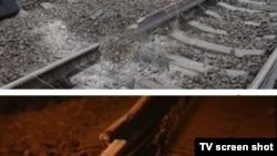 Куда исчез кусок рельса за ночь, взрывотехники точно не знают