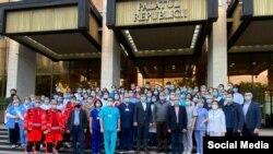 Înceheirea celui de al doilea maraton al vaccinării anti Covid-19 la Palatul Republicii, organizat de Primăria Chișinău, 30 mai 2021/Facebool Ion Ceban.