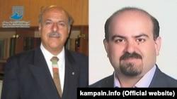 آرش کیخسروی (سمت راست) و قاسم شعلهسعدی، وکلای دادگستری