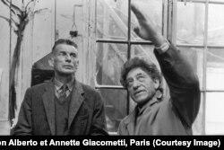 Самюэль Беккет и Альберто Джакометти, 1961