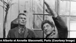 Сэмюэль Беккет (слева) и Альберто Джакометти, 1961