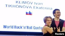 Катерина Тихонова на кубке акробатического рок-н-ролла в Кракове