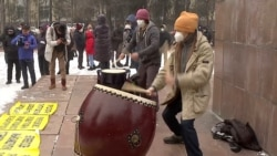 Hundreds Rally In Bishkek Against Proposed Changes To Constitution