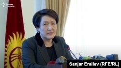 Председатель Центральной комиссии по выборам и проведению референдумов Кыргызстана Нуржан Шайлдабекова.