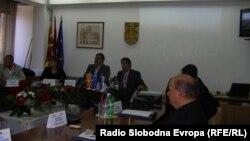 Словенечката делегација во општина Куманово.