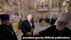 Фёдар Поўны, Аляксандар Лукашэнка і мітрапаліт Павел у храме Ўсіх Сьвятых