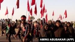 اجتماع شیعیان نیجریه در عاشورای سال ۹۴، نزدیک به یک ماه پیش از حمله ارتش