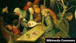"""И. Босхтун """"Акылсыздардын кемеси"""" (1490-1500)"""